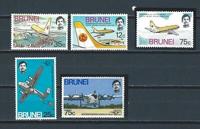 Brunei two early stamp sets - airplanes - aviation mnh and mint