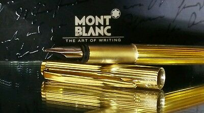 Vintage Montblanc Noblesse Gold Fountain Pen 585 Nib Function Stunning Mint #12
