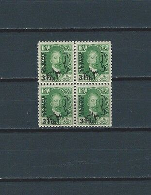 MIDDLE EAST Iraq Irak King Faisal I 3 f surcharge on 1/2 an stamp mnh blk/4