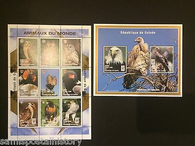 Guinee - mnh stamp sheets - Scouts - Owls - Eagle
