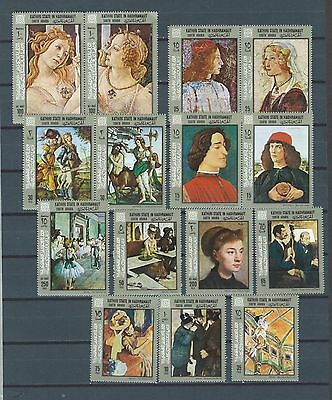 MIDDLE EAST Aden 2 mnh stamp sets - art - painting