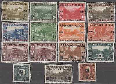 Yugoslavia 1918 Bosnia Herzegovina Overprints Mint Selection