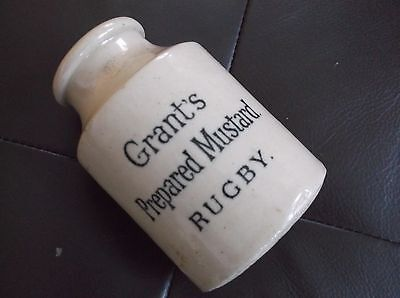 Rare Stoneware Grants Mustard Pot from Rugby, Doulton Lambeth made