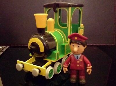 postman pats friction greendale rocket train with sounds and AJ figure