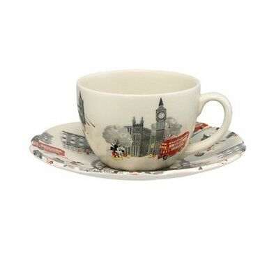 Cath kidston x Mickey Mouse In London Cup And saucer LIMITED EDITION. SOLD OUT
