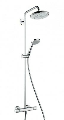 Hansgrohe Croma 220 Showerpipe with shower arm swivelling # 27185000