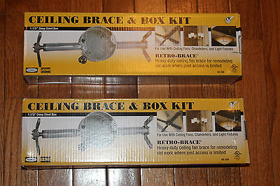 Hubbell RACO 936 Ceiling Fan Box and Brace 2 kits
