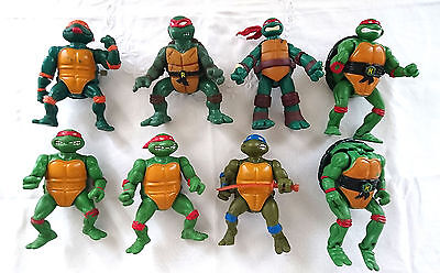 Tortues Ninja Tmnt - 8 Figurines Mirage Studios Playmates Toys 1988/89/92/93