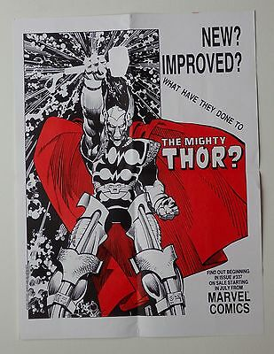 """Original poster for """"The Mighty Thor"""" issue 337 Marvel Comics, 17.5"""" x 23"""", 1983"""
