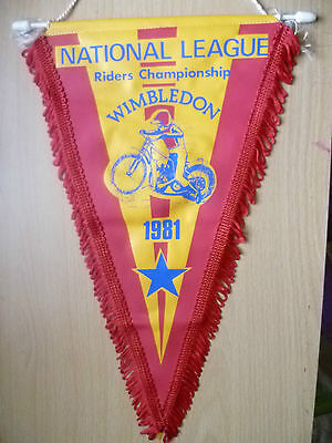 Pennants-1981 NATIONAL LEAGUE RIDERS CHAMPIONSHIP @ Wimbledon (apx.34x22 cm)