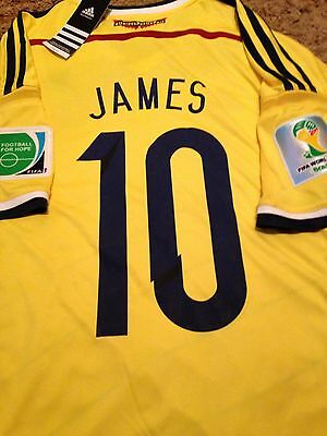 james rodriguez Rare Colombia World Cup 2010 Shirt Size Large
