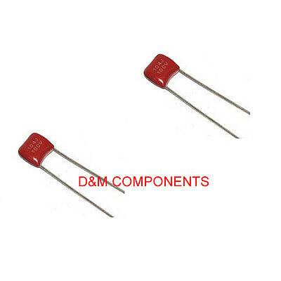 100nF 100V Polyester Film Capacitors, Pack of: 2, 5, 10, 20 or 50