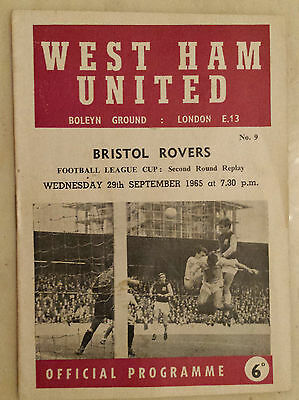 1965/66 League Cup - WEST HAM v BRISTOL ROVERS - 29th September