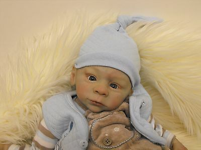 Reborn Designer Baby Doll Walter Sold Out  By Laura Tuzio Ross Tummy Plate Rare