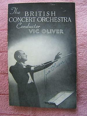 1949 programme SIGNED Conductor VIC OLIVER The British Concert Orchestra GENUINE