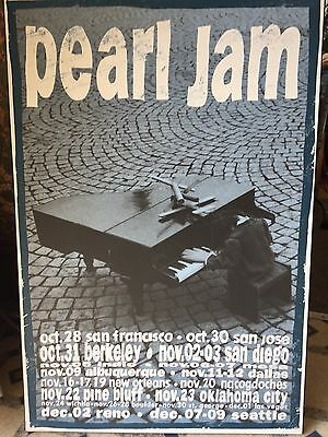 Pearl Jam *Mounted* 1993 Tour Poster