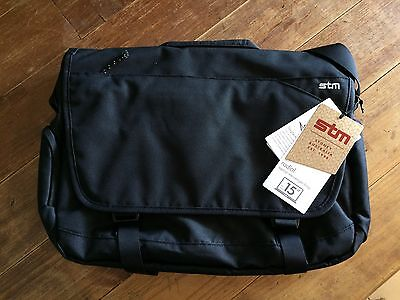 "Stm Radial 15"" Laptop Messenger Shoulder Bag Black"