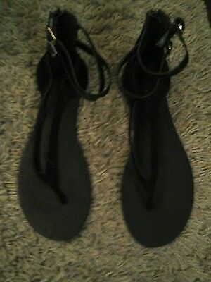 Next black sandals size 6.5, (40)