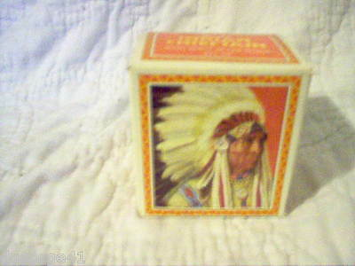 Avon Indian Chieftan Decanter Avon Spicy After Shave Original Box (Full)