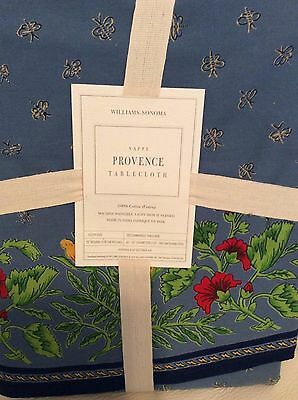 """Williams Sonoma Provence Tablecloth 70"""" Round NEW! Blue French Country"""
