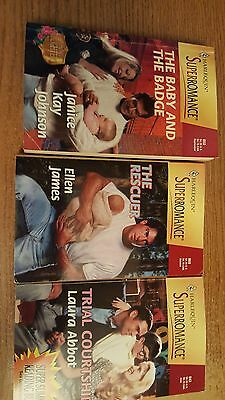Mixed Lot Of 12 Paperback Superromance Novels By Various Authors