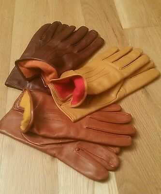 Stunning classic leather and cashmere lined gloves different sizes and colours