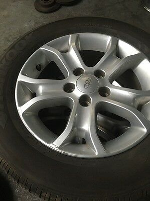 Ford Fg Xt 16 Inch Allow Wheels And Tyres - Hankook - 80% X 4