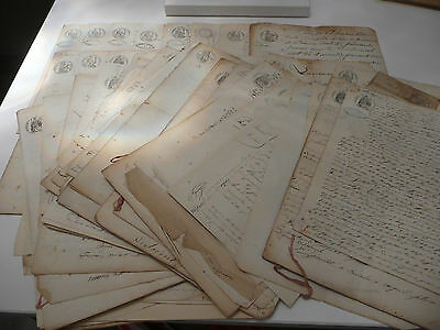 Gros Lot + 100 Documents Anciens - Timbre Royal - Timbre Imperial -