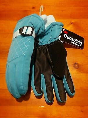 New Girls Champion Ski Gloves WATERPROOF 3M THINSULATE INsulation~SZ 4-7