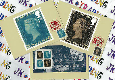 175th Anniversary of the Penny Black - Franked PHQ Stamp Cards - 06.06.2015