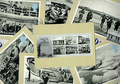 Battle of Britain - Set of 7 Royal Mail Franked PHQ Stamp Cards - 16.07.2015