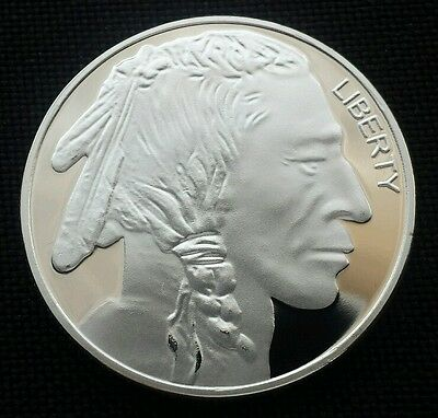 Liberty One Silver Plated Buffalo & Indian Head Commemorative Coin
