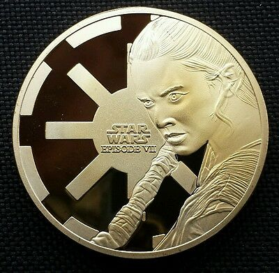 Star Wars.. Commemorative Gold Plated Coin.. The Force Awakens.. Episode VII.