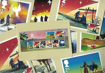 Christmas Xmas 2015 - Royal Mail Franked PHQ Stamp Cards 03.11.2015
