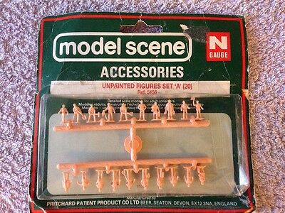 Model Scene Accessories No 5156 Unpainted Figure Set A For N Gauge New & Sealed