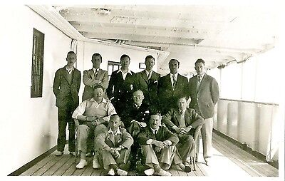 Martineau's Team to Egypt in 1938 - A Rare informal Photo of the Team on deck.