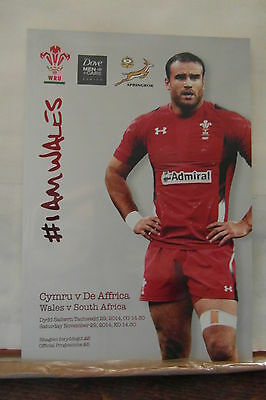 2014 WALES V SOUTH AFRICA  rugby union programmes