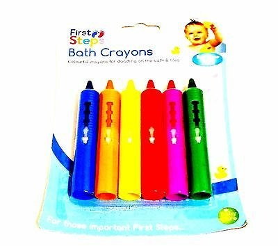 Baby Bath Crayons for Fun in Bath - Non Toxic Bath Toys Pack of 6