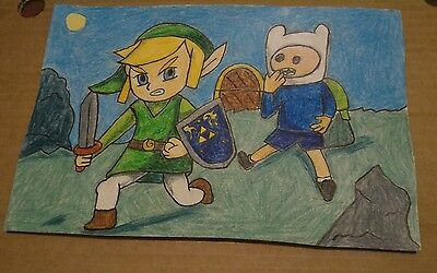 A Original Drawing Called Watching The Master Of Adventures