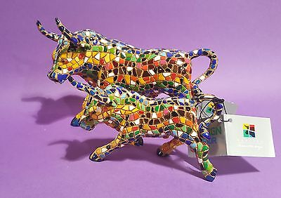 Mosaic Multicolored Bull ( Gaudi ) Spanish Handcrafted