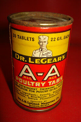 dr legears POULTRY TABS box veterinary medicine country store ADVERTISING UNUSED