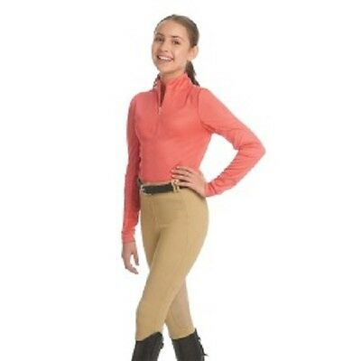 Ovation Athletica Child Ribbed Riding Tights Breeches NEW!! Beige Large