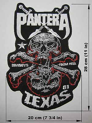 PANTERA BACK PATCH embroidered NEW