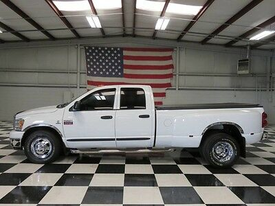 2007 Dodge Ram 3500  1 Owner White Crew Cab 5.9 Cummins 6spd Manual Low Miles Warranty Financing NICE