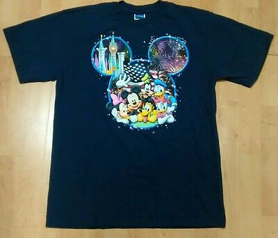 Disney Mickey Mouse Donald Duck Minnie Goofy Pluto Men's Large Shirt