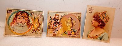 3 Victorian Trade Cards /  Dilsworth's Coffee / All Different / Free Shipping