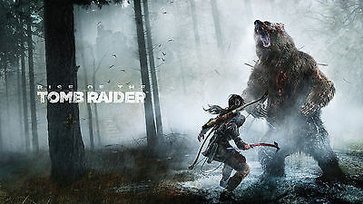 Poster 42x24 cm Rise Of The Tomb Raider Bear