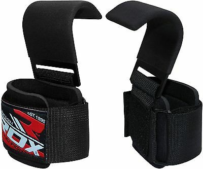 RDX Weight Lifting Gym Straps Palm Crossfit Wrist Wraps Exercise Bodybuilding...