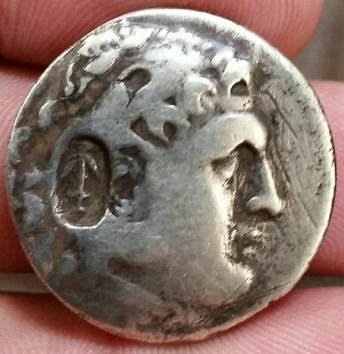 Lycia Phaselis 202-201BC Anchor Counterstamp.Silver Tetradrachm . Ancient Greek
