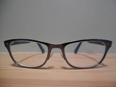 Emporio Armani Silver/Grey & Turquoise Oval Eye Glasses EA 9870 BMD 145 Italy